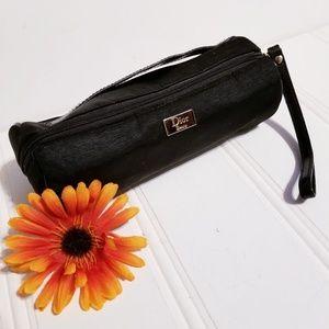 Dior Beauty Black Canvas Makeup Bag w/Handle